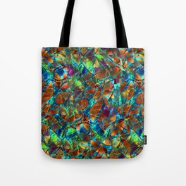 Floral Abstract Stained Glass G290 Tote Bag