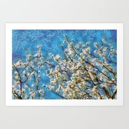 Blossom and Blue Sky In Monet Style Art Print