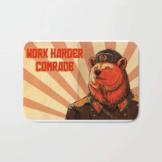 Work Harder, Comrade! Bath Mat