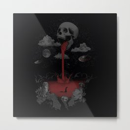 black world Metal Print