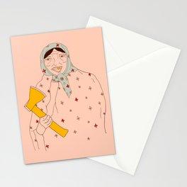 Babushka lady Stationery Cards