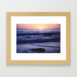 Pacific Sunset II Framed Art Print