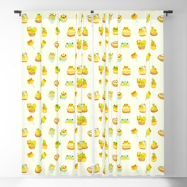 Sweet Lemon frog Blackout Curtain
