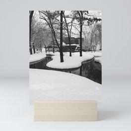 B&W Japan's Sapporo University in Winter Mini Art Print