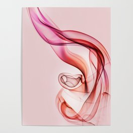 Pink and red smoke composition Poster