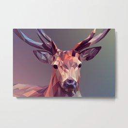 Poly Deer Metal Print