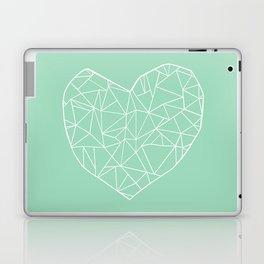 Abstract Heart Mint Laptop & iPad Skin