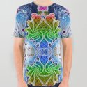 BBQSHOES™: Psychedelic Surf Fractal All-Over Print T-Shirt by bbqshoes