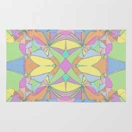 280 - Colourful distressed abstract design Rug
