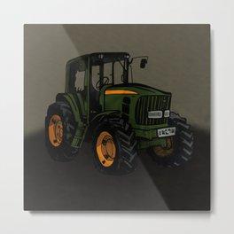 Tractor Farming Metal Print