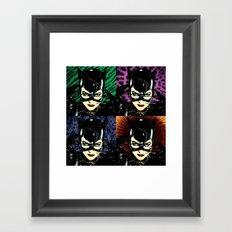 Four Catwomen Framed Art Print