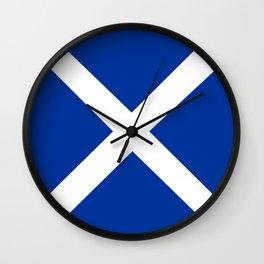 scotland country flag united kingdom great britain Wall Clock