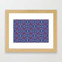 Frog Pixelation Framed Art Print