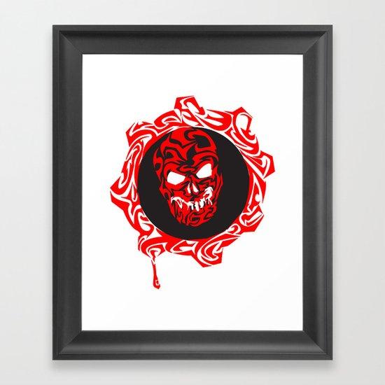 Gears Of War Design Framed Art Print
