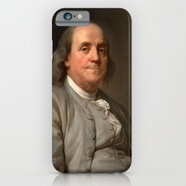 """Joseph Siffred Duplessis """"Benjamin Franklin"""" iPhone Case"""