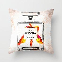 Bottle of Perfume Throw Pillow
