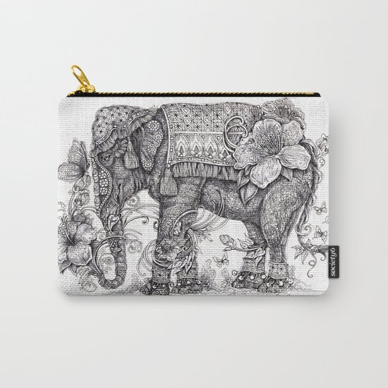 """Anesh the Creative Elephant"" Carry-All Pouch"