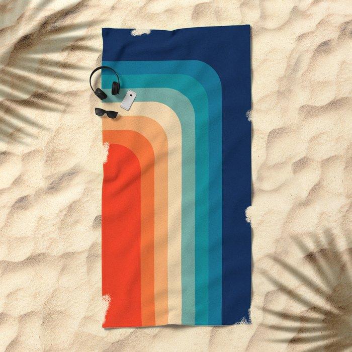 Retro 70s Color Palette III Beach Towel