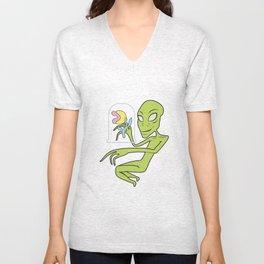 Alien Botanist Unisex V-Neck