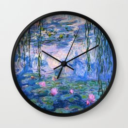 Water Lilies Monet Wall Clock