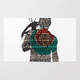 Daryl Dixon with Quotes Rug