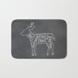 Venison Butcher Diagram (Deer Meat Chart) Bath Mat