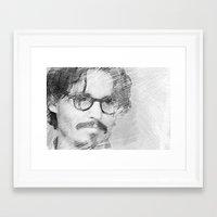 johnny depp Framed Art Prints featuring Johnny Depp by Ammar ZABOUN