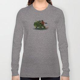 Tiny Monkey Warrior Long Sleeve T-shirt