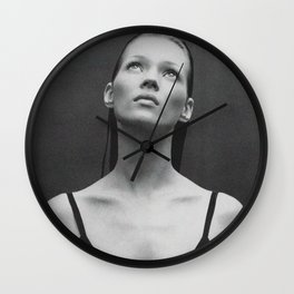 Old reworked Kate Moss photo. Wall Clock