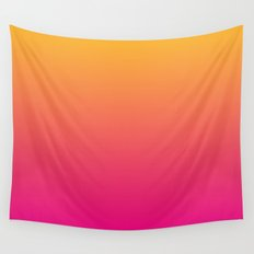Ombre | Orange and Pink Wall Tapestry