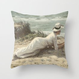 Summer on The Dunes - Niels Frederik Jensen Throw Pillow