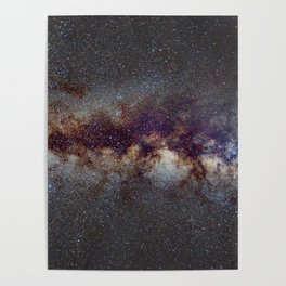 The Milky Way: from Scorpio and Antares to Perseus Poster