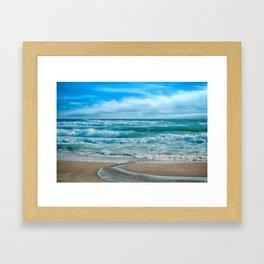 sea beach Framed Art Print