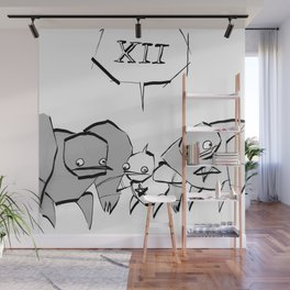 minima - slowbot 006 (clock) Wall Mural