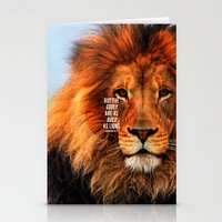 pocketfuel Stationery Cards featuring BOLD AS LIONS by Pocket Fuel