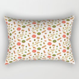 Old Fashioned Boiled Sweets: Alternate Colour by Chrissy Curtin Rectangular Pillow