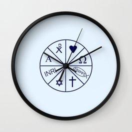 christogram 14 Wall Clock