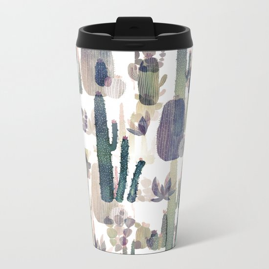 cactus mirror 2 Metal Travel Mug