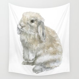 Lop Rabbit Watercolor Painting Bunny Wall Tapestry