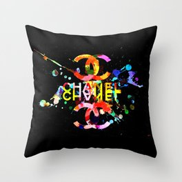 Fashion Blacky Black Throw Pillow
