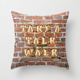 Take a Talk Walk - Brick Throw Pillow
