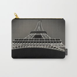 Eiffel Tower black white Carry-All Pouch