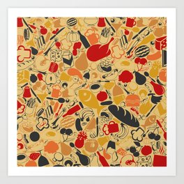 Food a background Art Print