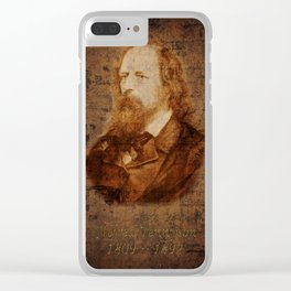 Alfred Tennyson Clear iPhone Case