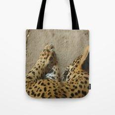 Sleeping leopard Tote Bag