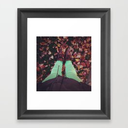 from where i stand - fall Framed Art Print