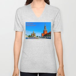 Red Square of Moscow Unisex V-Neck