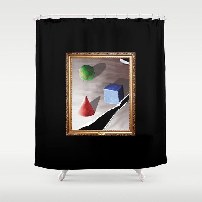 Broken By Design Shower Curtain