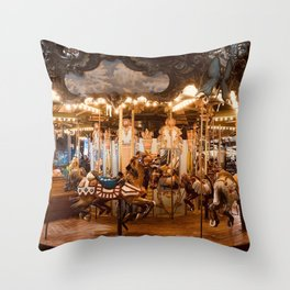 Back when the world was full of joy Throw Pillow