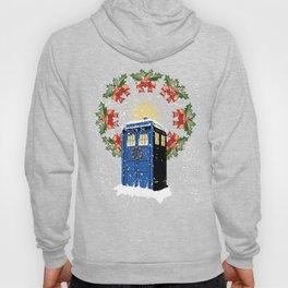 A WARM AND CONFORTABLE TARDIS I N THE SNOWSTORM Hoody